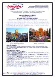 Carnaval de Nice et la Fête des Citrons a Menton - transglobe