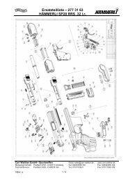 Hämmerli SP20 RRS .32 S&W Ersatzteilzeichnung - Walther