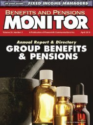 April - Benefits and Pensions Monitor
