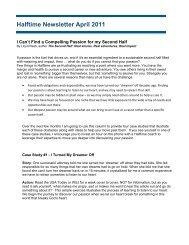 Halftime Newsletter April 2011