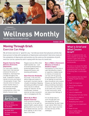 United Behavioral Health Wellness Monthly - UCI Human Resources