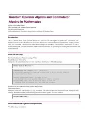 Quantum Operator Algebra and Commutator Algebra in Mathematica
