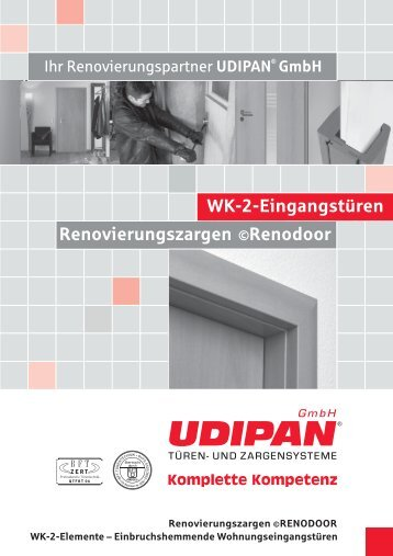 WK-2-Eingangstüren Renovierungszargen Renodoor - Udipan