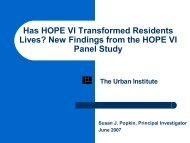 New Findings from the HOPE VI Panel Study