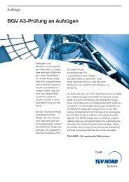 BGV A3-Prüfung an Aufzügen - TÜV NORD Gruppe