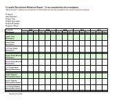 Tri-yearly Recruitment Milestone Report - NIMH