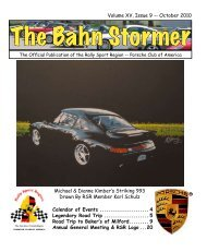 October 2010 Bahn Stormer - Rally Sport Region - Porsche Club of ...