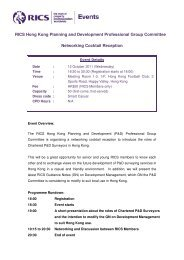 RICS Hong Kong Planning and Development ... - RICS Asia