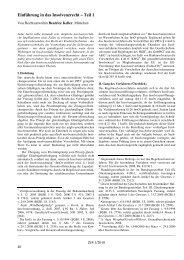 Einführung in das Insolvenzrecht – Teil 1 - ZJS