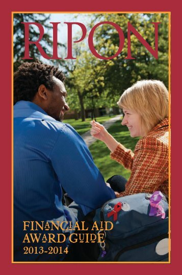 2013-2014 Financial Aid Award Guide - Ripon College