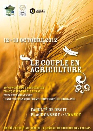 LE COUPLE EN AGRICULTURE - Vitisphere.com