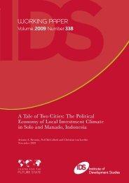 Working Paper #338 - Institute of Development Studies