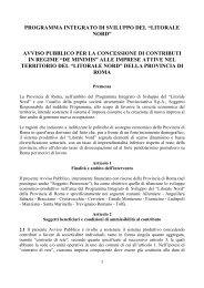 """programma integrato di sviluppo del """"litorale nord"""" - Biclazio.it"""