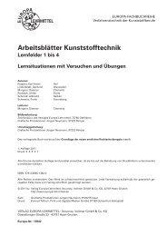 Arbeitsblätter Kunststofftechnik