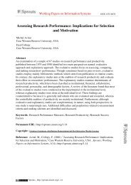 Assessing Research Performance: Implications for Selection and ...