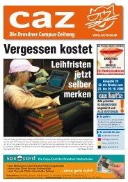 caz - Die Dresdner Campus-Zeitung, Ausgabe 23 vom 23.10.2006