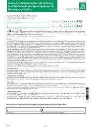 Rahmenvereinbarung und Bedingungen - PSD Bank Karlsruhe ...