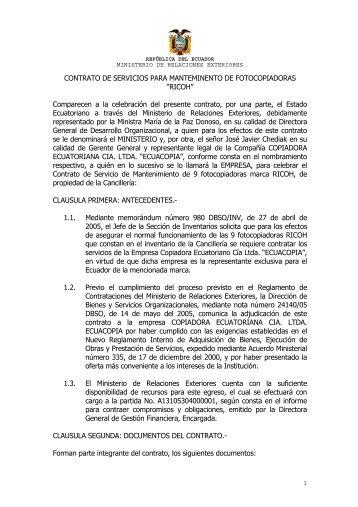 Ecuadorministerio magazines for Ministerio de relaciones interiores espana