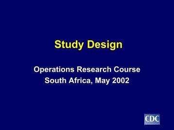 Study Design - South African Health Information