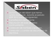RENDICION DE CUENTAS SISBEN 2010 - Silvania
