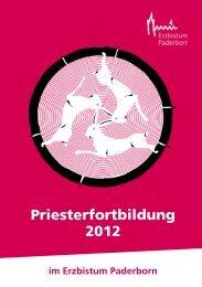 Priesterfortbildung 2012 - Erzbistum Paderborn
