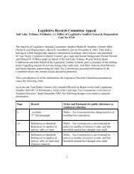 A Performance Audit of the Utah Tax Commission's - Utah State ...