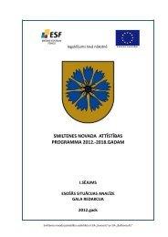 smiltenes novada attīstības programma 2012.-2018.gadam