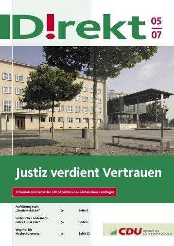"""""""Justiz verdient Vertrauen"""" (PDF-Datei"""
