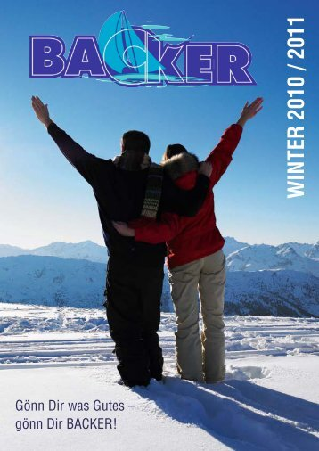 WINTER 2010 / 2011 - Backer