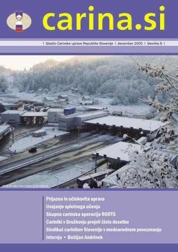 Åtevilka 6, december 2005 - Carinska uprava Republike Slovenije