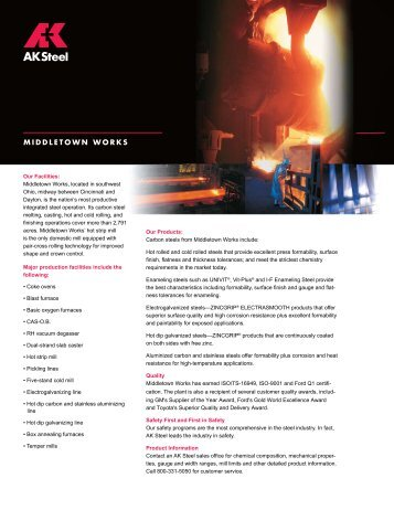 Middletown Works (PDF) - AK Steel