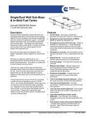 Single/Dual Wall Sub-Base & In-Skid Fuel Tanks