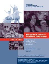 Maryland Artist/ Teacher Institute - Arts Education in Maryland ...