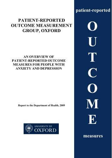 2009 review - Patient-Reported Outcomes Measurement - University ...