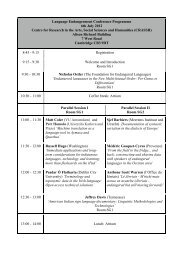 Conference Timetable - RevisedFINAL - CRASSH and
