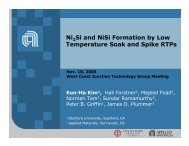 Ni Si and NiSi Formation by Low Temperature Soak and Spike RTPs