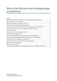 2010_11_Häufige Fragen zu Aufzugsanlagen - TÜV NORD Gruppe