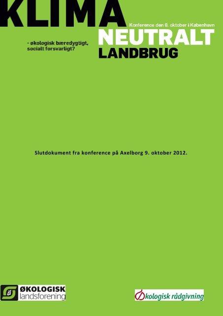 Slutdokument - Økologisk Rådgivning