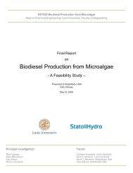 Biodiesel Production from Microalgae - Kemiteknik - Lunds Tekniska ...