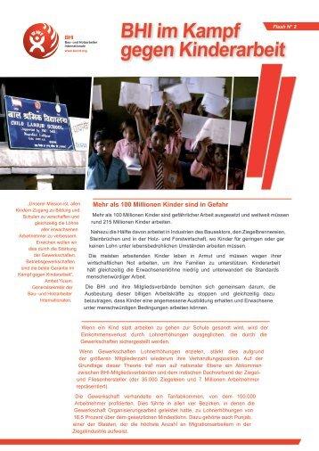 BHI im Kampf gegen Kinderarbeit - bwint.org