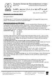 Elternbrief Nr 4 neu - DSB | Kairo