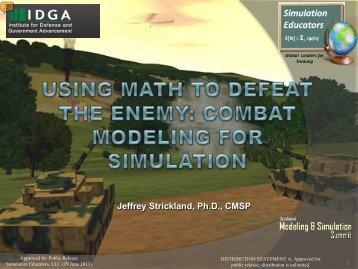 Jeffrey Strickland, Ph.D., CMSP - Simulation Educators
