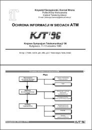 OCHRONA INFORMACJI W SIECIACH ATM - Krzysztof Szczypiorski
