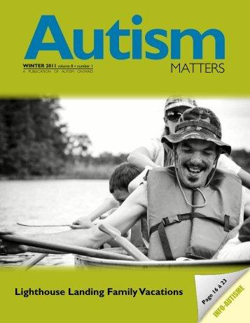 Winter 2011 - Autism Ontario