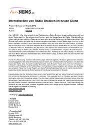 Internetseiten von Radio Brocken im neuen Glanz - fair-NEWS.de