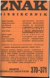 Nr 370-371, wrzesień-październik 1985 - Znak