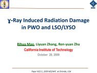 Talk by Rihua Mao on Gamma-ray Induced Radiation ... - Caltech