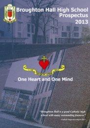 School Prospectus 2012 /13 - Broughton Hall High School