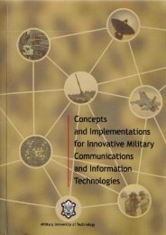 Concepts and Implementations for Innovative Military ... - TELDAT