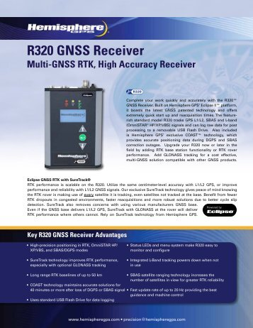 R320 GNSS Receiver - Canal Geomatics